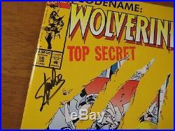 Lookee! WOLVERINE #50 SIGNED BY STAN LEE! Die-Cut Cvr! COA