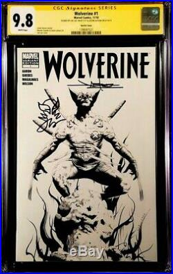 MARVEL Comic WOLVERINE #1 CGC SS 9.8 X2 Sketch Jae Lee Jason Latour X-MEN Remark