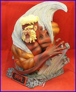 MARVEL UNIVERSE WOLVERINE& SABRETOOTH BUST Statue ART ASYLUM ELI LIVINGSTON XMEN