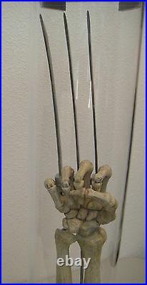 MARVEL WOLVERINE CLAWS LIFE SIZE SKELETAL PROP REPLICA Statue X-men HUGH jackman