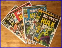 MIGHTY WORLD OF MARVEL #196-199 Bronze Age UK Comics 1st App Wolverine Lot of 4