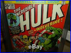 Marvel Comics Hulk 181 1974 CGC 4.5 1st appearance Wolverine x men