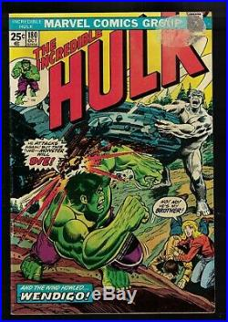 Marvel Comics Incredible Hulk 180 1st Appearance Wolverine 1974 6.0. FN wendigo