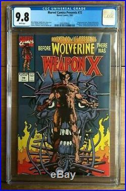 Marvel Comics Presents #72 Origin of Wolverine Weapon X CGC 9.8