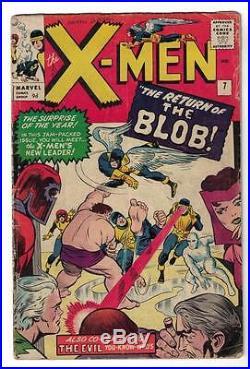 Marvel Comics VG X MEN # 7 RETURN BLOB 2nd APPEARANCE 1964 4.0