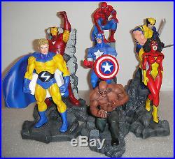 Marvel New Avengers Captain America, Wolverine Spider-man Complete Set 7 Statue