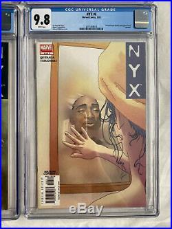NYX #1-7 (2004) CGC 9.8 Full Run SET 1st X-23 (Laura Kinney) 2, 3, 4, 5, 6
