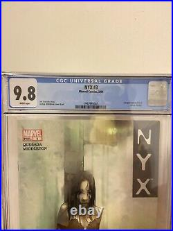 NYX 3 CGC 9.8 NM/MT White Pages 1st appearance X-23 Laura Kinney 2004