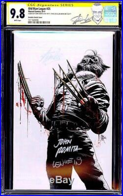 Old Man Logan 25 CGC 9.8 SS Virgin Stan Lee Len Wein John Romita Bloody Claw NM