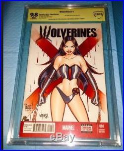 Original Art X23 Wolverine Sketch By Billy Tucci Art Varese Colors Marvel Comic