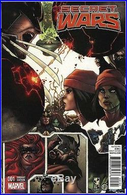 Secret Wars #1-9 Variant Bianchi Comic Set Marvel 2015 Spider-Man Wolverine