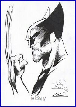 Signed Alan Davis Mark Farmer Original Marvel Comic X-Men Art Sketch Wolverine