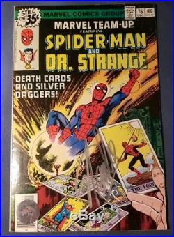 Stan Lee Signed Spiderman Dr Strange Marvel Comic Book #76 Excelsior AUTHENTIC
