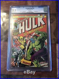 THE INCREDIBLE HULK #181 graded CGC 3.5 1st Full Appearance Of Wolverine