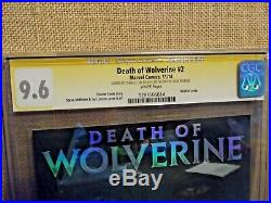 The Death of Wolverine #2 hologram cover CGC SS 9.6 Signed Stan Lee