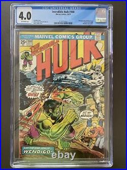 The Incredible Hulk #180 Comic Book CGC 4.0 Marvel 1974 1st Wolverine Cameo