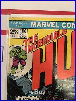 The Incredible Hulk 180 First Wolverine Appearance Marvel 1974 Cameo With VS