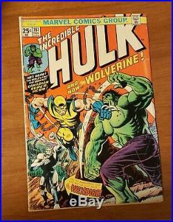 The Incredible Hulk #181 1st Full App. Wolverine 1974 NO MVS