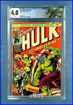 The Incredible Hulk #181 Cgc 4.0 White Pages First Wolverine Marvel Comics 1974