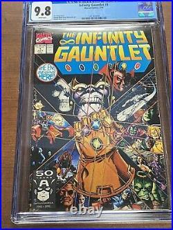 The Infinity Gauntlet #1 CGC 9.8, 1991, HUGE MARVEL COMIC KEY STORY, MCU, Movie