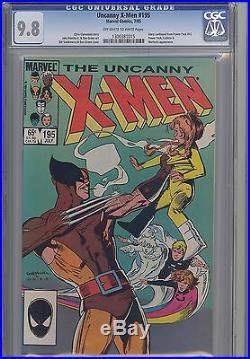 Uncanny X-Men #195 CGC 9.8 1985 Marvel Comic Wolverine & Power Pack KEY