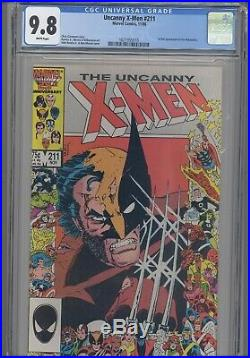 Uncanny X-Men 211 CGC 9.8 1986 Marvel Comic Wolverine Cover New Frame