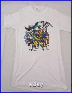 Vintage 1987 X-Men T-shirt Medium Marvel Comic Wolverine Bronze Age X Men