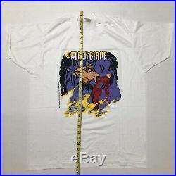 Vintage 1989 Wolverine The Black Blade T-shirt Marvel Comic Vtg Spiderman X-men