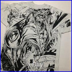 Vintage 1997 Xmen Gambit Wolverine Storm T-shirt Marvel Comic Vtg All Over Mega