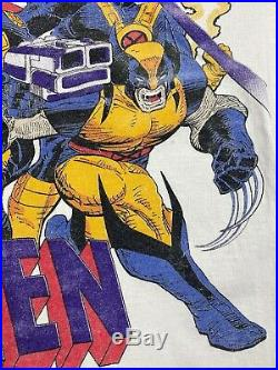 Vintage 90s X-Men Marvel Comic Tee Shirt Marvel Movie Wolverine Characters