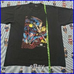 Vintage 90s X-Men Marvel Comic WOLVERINE Graphic T Shirt MEDIUM/LARGE Black Fade