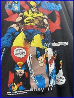 Vintage 90s X-Men Wolverine marvel comics shirt size XL single stitch