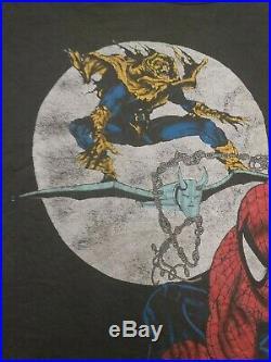 Vintage Spiderman vs Hobgoblin T-Shirt Marvel Comic Wolverine
