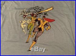 Vtg Marvel X-men comic t shirt horror 80s promo spawn wolverine all over print