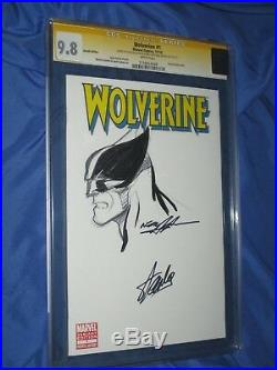 WOLVERINE #1 CGC 9.8 SS Original Art Sketch & Signed Neal Adams/Stan Lee (X-MEN)