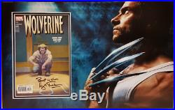 WOLVERINE Marvel comic, mounted & matted. Personally signed HUGH JACKMAN