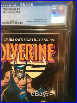 Wolverine #1 1988 CGC 9.6 WP. Awesome Comic! New case just back from CGC