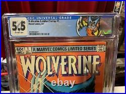 Wolverine #1, CGC 5.5, RARE NEWSTAND, Key Marvel Comics, 1st Limited Series, MCU