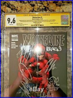 Wolverine #1 CGC 9.6 SS X7 Deadpool J. Scott Campbell Variant SUPER RARE