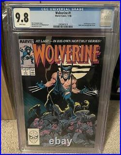 Wolverine 1 CGC 9.8 1988 1st Patch Marvel Comics