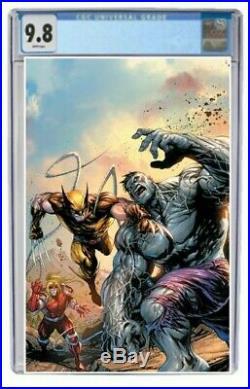 Wolverine #1 CGC 9.8 Graded Clayton Crain Grey Hulk Virgin Variant Comic Presale