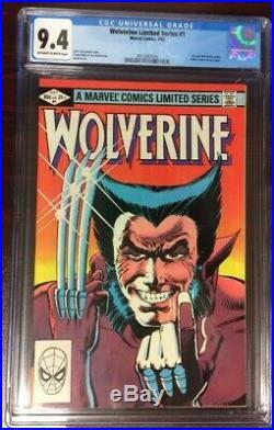 Wolverine #1 Frank Miller- 1st Solo Comic 1982 Nm Cgc 9.4