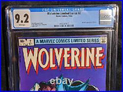 Wolverine # 2 (1982) CGC 9.2 NM- Universal Frank Miller