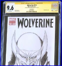 Wolverine #310 (2012) CGC 9.6 SS ORIGINAL SKETCH by GREG HORN! Comic