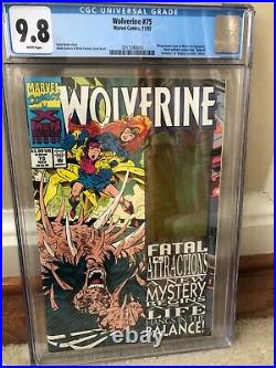 Wolverine 75 cgc 9.8