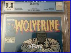 Wolverine #8 Cgc 9.8 White Pages Classic Wolverine & Hulk Cover