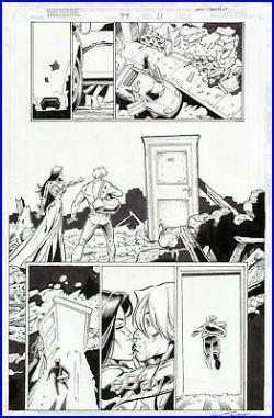 Wolverine #99 Original Comic Art Page 1/2 Splash Marvel Comics Artwork Awesome