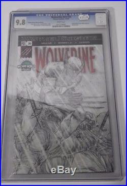 Wolverine Comic Book Number 20 Sketch Marvel Knights CGC 9.8 Graded Slabbed