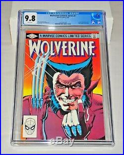 Wolverine Limited Series 1 CGC 9.8 White Pages 1982 Frank Miller