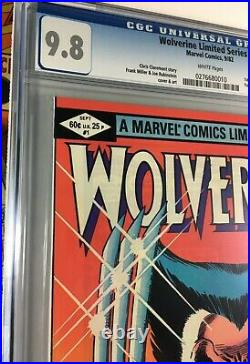 Wolverine Ltd Ser #1 CGC 9.8 White Pages! Frank Miller Cover No Reserve! Beauty